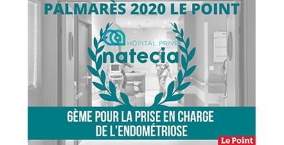Natecia 6ème clinique de France pour le traitement de l'endométriose